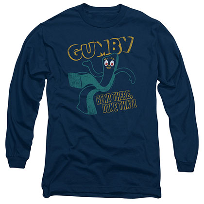 Gumby Bend There Blue Long Sleeve T-Shirt