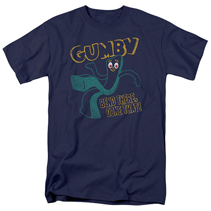 Gumby Bend There Blue T-Shirt