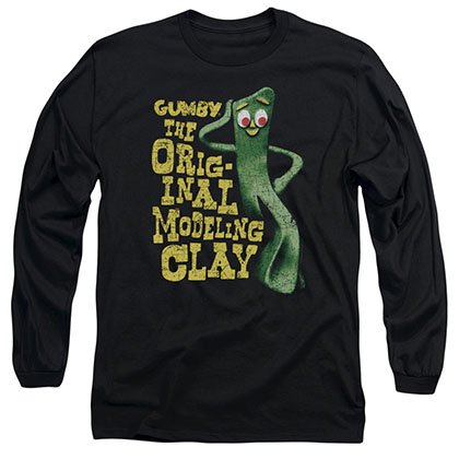 Gumby So Punny Black Long Sleeve T-Shirt