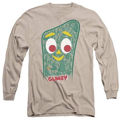 Gumby Inside Gumby Beige Long Sleeve T-Shirt