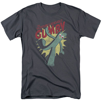 Gumby Bendable Gray T-Shirt