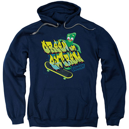 Gumby Green And Extreme Blue Pullover Hoodie