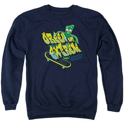 Gumby Green And Extreme Blue Crew Neck Sweatshirt