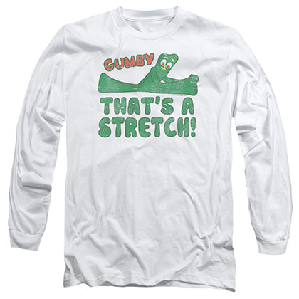 Gumby That's A Stretch White Long Sleeve T-Shirt