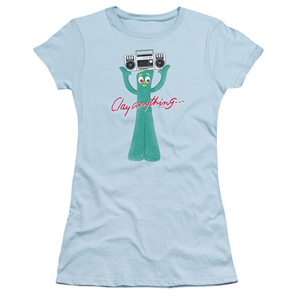 Gumby Clay Anything Blue Juniors T-Shirt