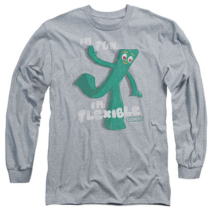 Gumby Flex Gray Long Sleeve T-Shirt
