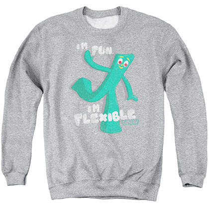 Gumby Flex Gray Crew Neck Sweatshirt