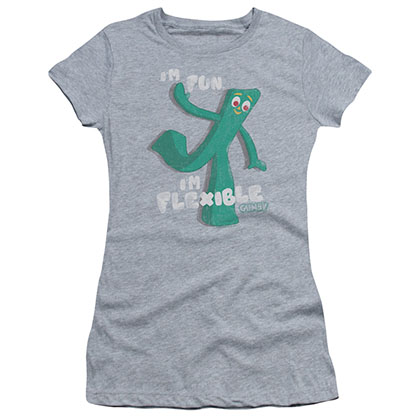 Gumby Flex Gray Juniors T-Shirt