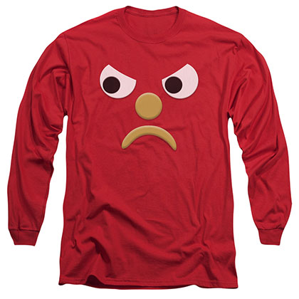 Gumby Blockhead G Red Long Sleeve T-Shirt