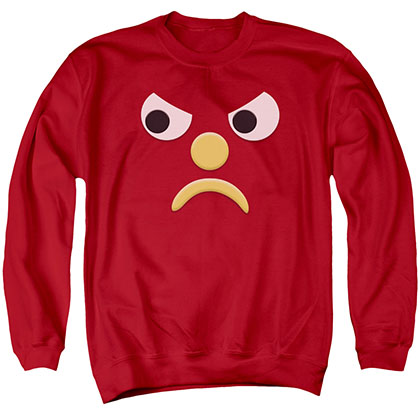 Gumby Blockhead G Red Crew Neck Sweatshirt