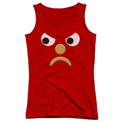 Gumby Blockhead G Red Juniors Tank Top