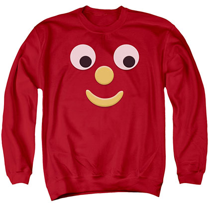 Gumby Blockhead J Red Crew Neck Sweatshirt