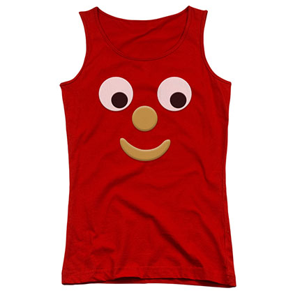 Gumby Blockhead J Red Juniors Tank Top