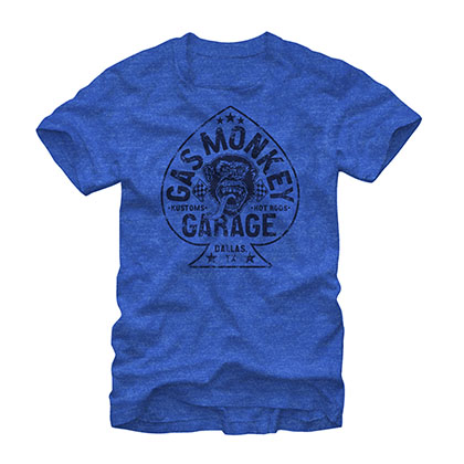 Gas Monkey Garage Aces High Heather Blue T-Shirt