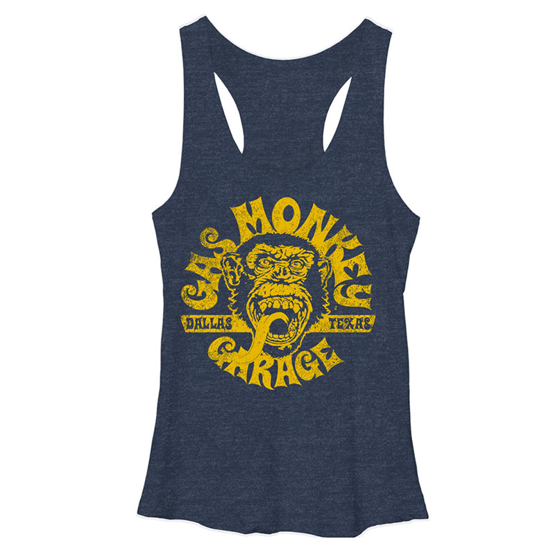 126ad90960588 item was added to your cart. Item. Price. Gas Monkey Garage Face Blue  Heather Juniors Tank Top