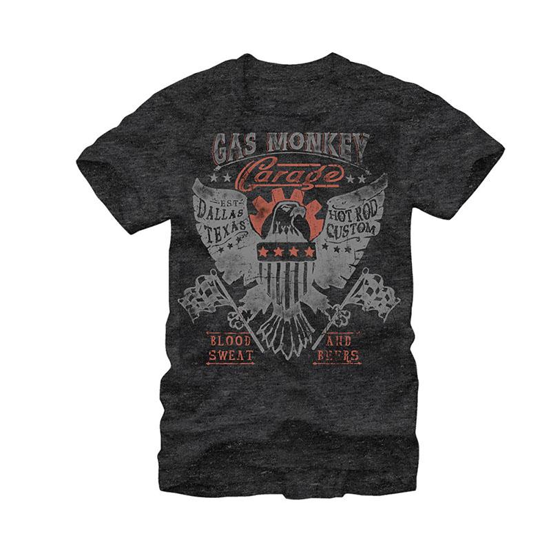 Gas Monkey Garage American Dream Heather Charcoal T-Shirt