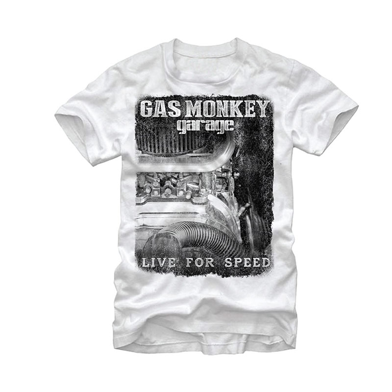 Gas Monkey Garage Super Charged White T-Shirt