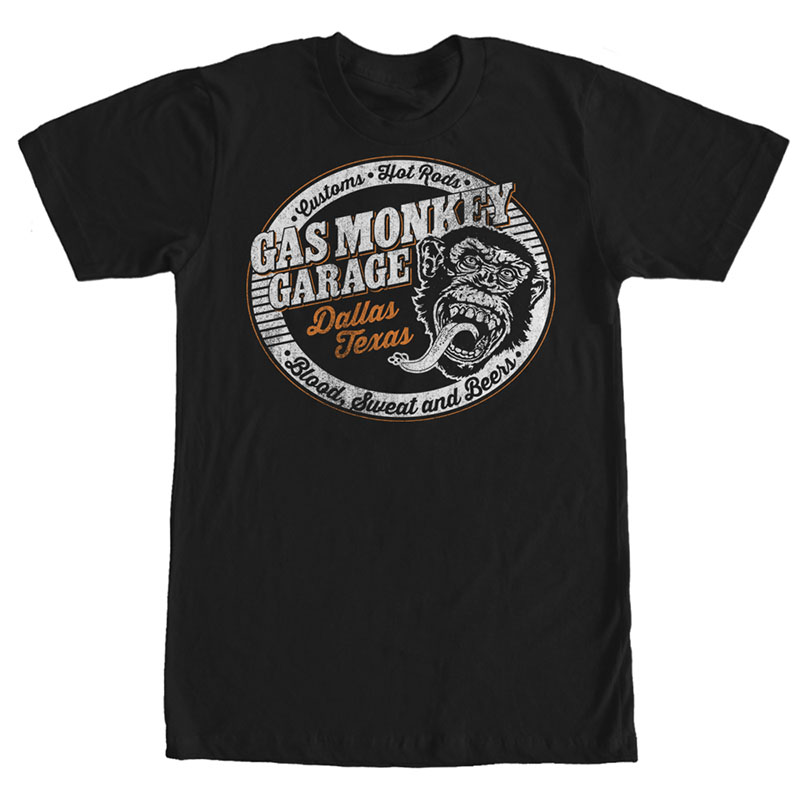 Gas Monkey Garage Grillin Black T-Shirt
