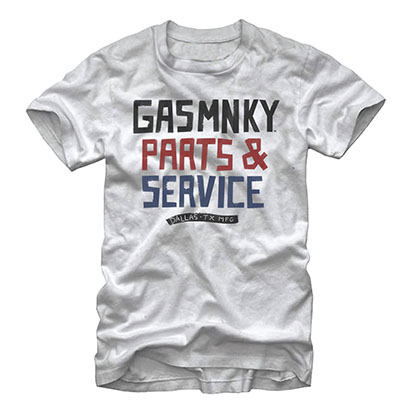 Gas Monkey Garage Parts And Service White T-Shirt