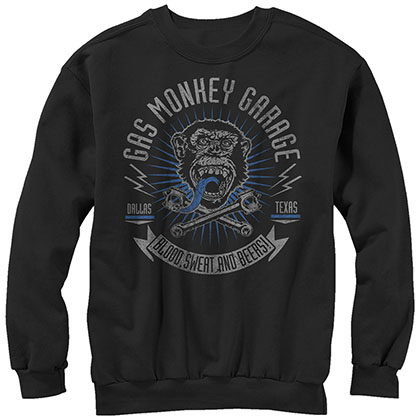 Gas Monkey Garage Reset Garage Black Pullover Sweatshirt