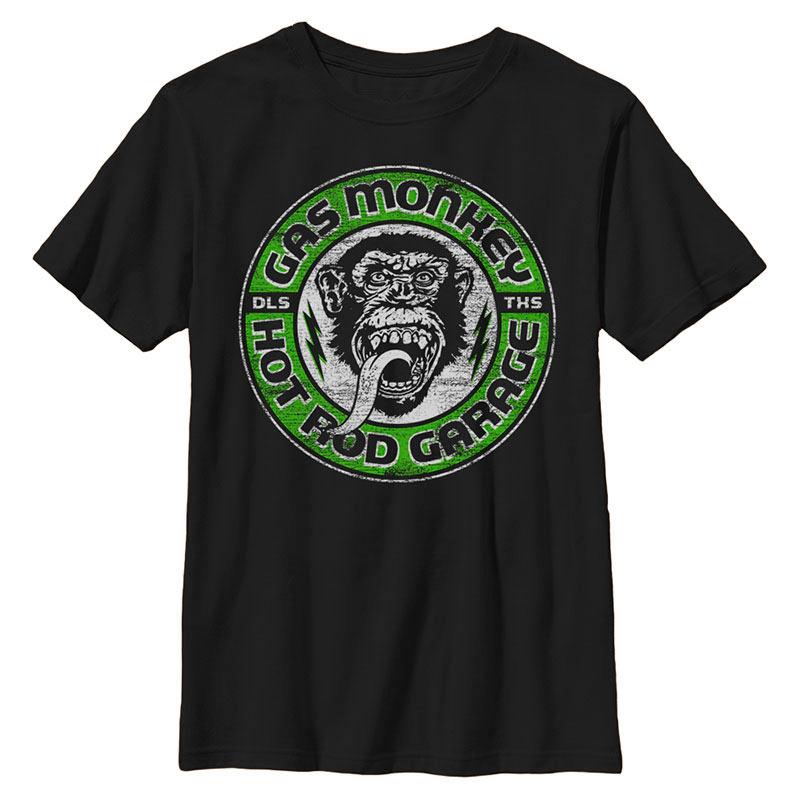 Gas Monkey Grease Lightning Black T-Shirt