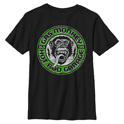 Gas Monkey Grease Lightning Black T-Shirt
