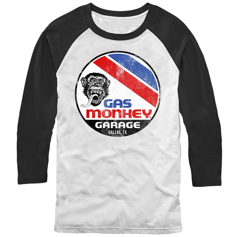 Gas Monkey Garage Le Mans White Long Sleeve Shirt