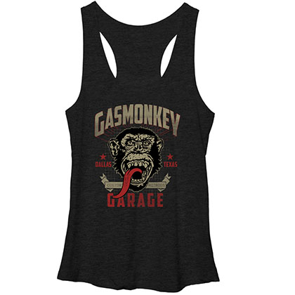 Gas Monkey Garage Framed Black Heather Juniors Tank Top