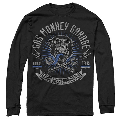 Gas Monkey Garage Blood Sweat Beers Long Sleeve Tee