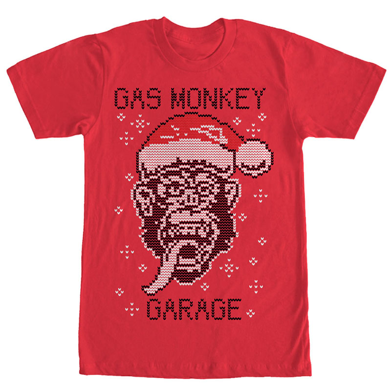 Gas Monkey Garage Knit Monkey Red T-Shirt