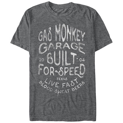 Gas Monkey Garage Droplets Gray T-Shirt
