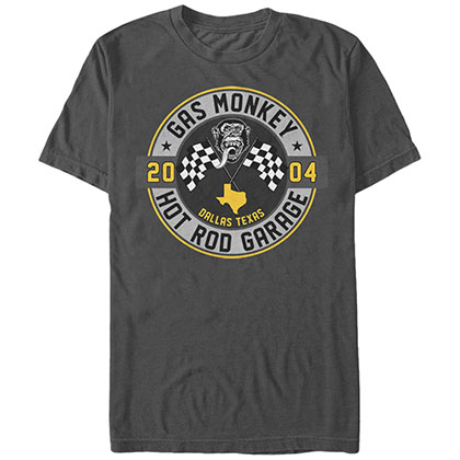 Gas Monkey Hot Rod Garage Gray T-Shirt