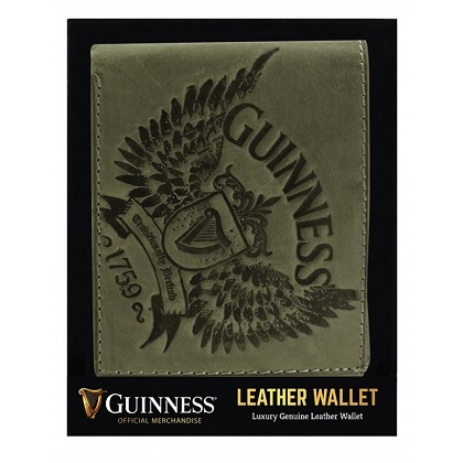 Guinness Grey Wings Leather Wallet