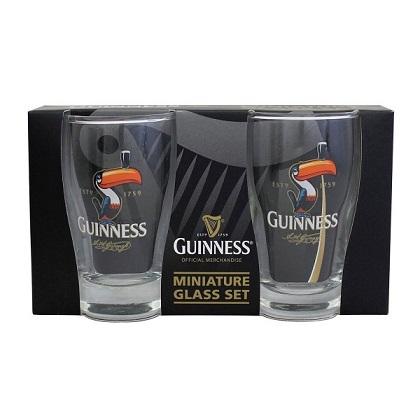 Guinness Toucan Mini Pint Glass 2 Pack