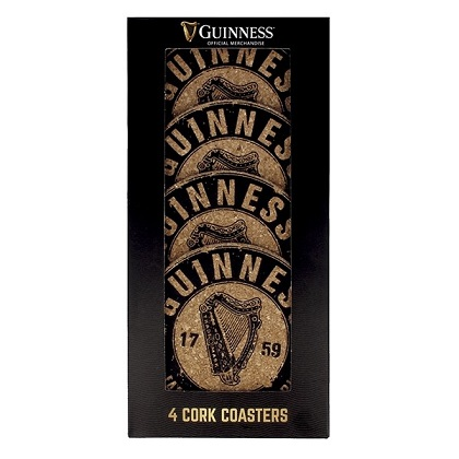 Guinness Cork Coasters 4 Pack
