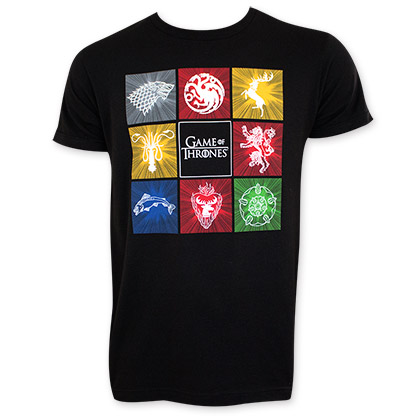 Game Of Thrones Men's Black Squares Tee Shirt