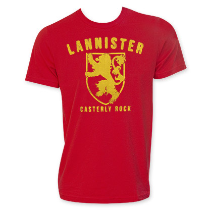 Game Of Thrones Lannister Red Tee Shirt