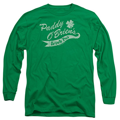 St. Patrick's Day Paddy O'Briens Irish Pub Green Long Sleeve T-Shirt