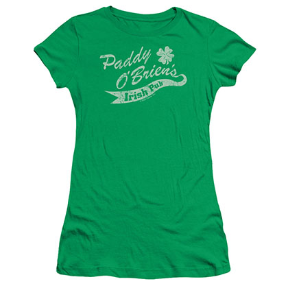 St. Patrick's Day Paddy O'Briens Irish Pub Green Juniors T-Shirt