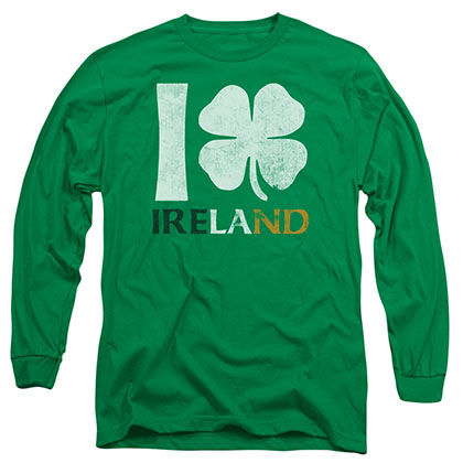 St. Patrick's Day I Love Ireland Green Long Sleeve T-Shirt