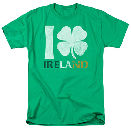 St. Patrick's Day I Love Ireland Green T-Shirt