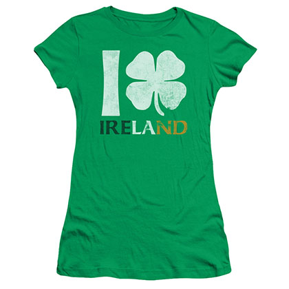 St. Patrick's Day I Love Ireland Green Juniors T-Shirt