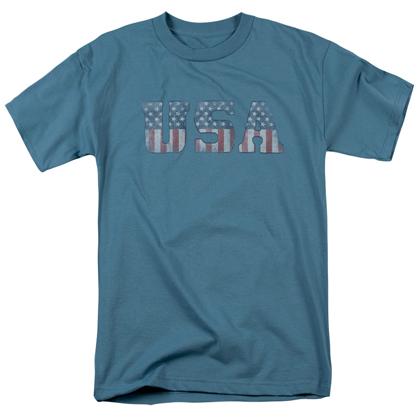 Patriotic Faded USA Tshirt