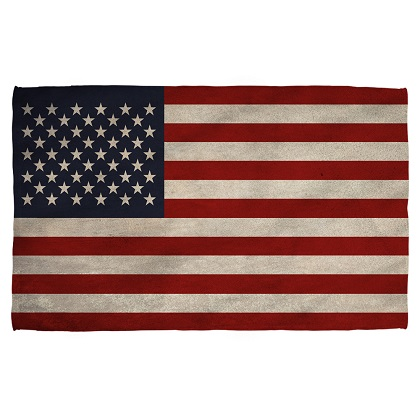 Patriotic Vintage American Flag Beach Towel