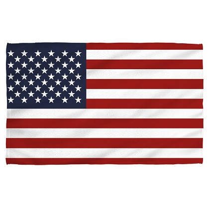 American Flag Patriotic Beach Towel