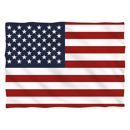 American Flag Patriotic Pillow Case