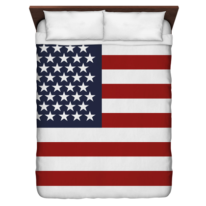 American Flag Queen Sized Duvet Cover