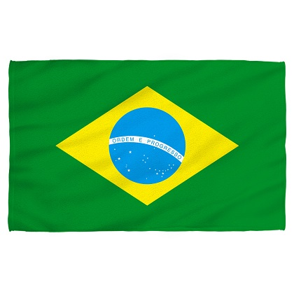 Brazil Brazilian Flag Beach Towel