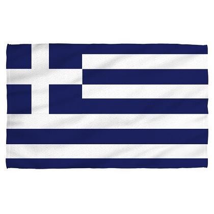 Greece Greek Flag Beach Towel