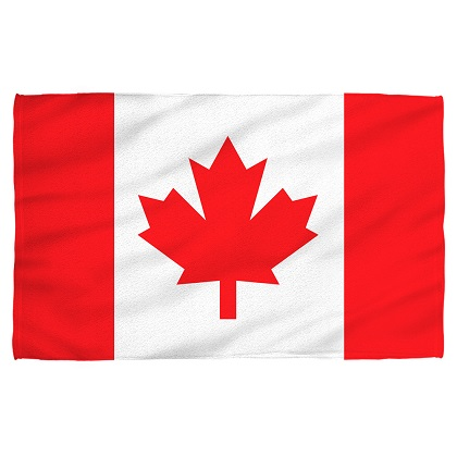 Canada Canadian Flag Beach Towel